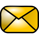Vector illustration of shiny yellow e-mail web icon