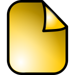 Vector graphics of shiny yellow document web icon