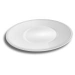 Vector illustration of oval shaped plate