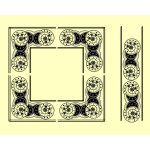 Vector image of calestial decoration frame