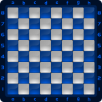7 Chessboard Color Azul Clipart by DG RA