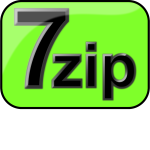 7zip Glossy Extrude Green