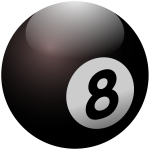 Vector illustration of billiard ball number eight