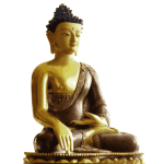 Vector image of statue of golden Buddha