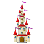 Vector image of beautiful castle