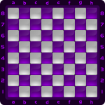 9 Chessboard Color Morado Clipart by DG RA