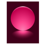 9 Pink Sphere Blurred Reflection