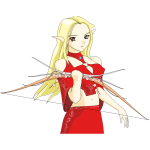Female archer cartoon image