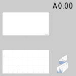 A0.00 sized technical drawings paper template vector image