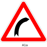 Right hand curve sign