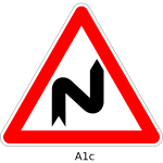 Double curve first to the right
