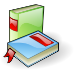 Shiny books vector image