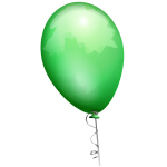 Green balloon vector image