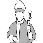 Vector drawing of Christian bishop