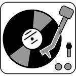 Simple turntable vector clip art