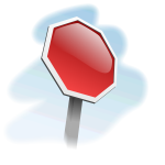 Blank stop sign 3D vector image