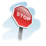 Stop sign 3D vector image