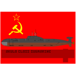 Russian submarine vector drawing