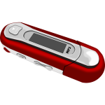 Vector image of a red MP3 player