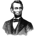 Vector image of portrait of Abraham Lincoln