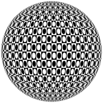 Abstract Checkered Sphere