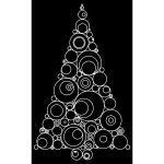 Abstract Circles Christmas Tree
