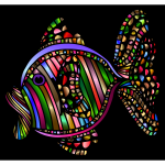 Abstract Colorful Fish 2 With Background