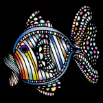 Abstract Colorful Fish 5 With Background