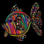 Abstract Colorful Fish 6 With Background