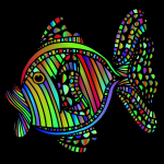 Abstract colorful fish 7 with background