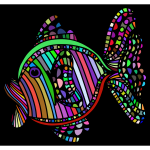 Abstract Colorful Fish With Background