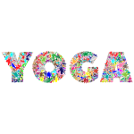 Abstract Floral Yoga Typography