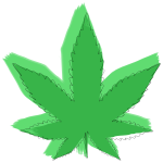Abstract Stylized Marijuana Leaf