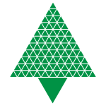 Abstract Triangular Christmas Tree Green