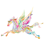 Abstract Winged Horse Prismatic