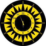 Scripted Abstract Sun Clock