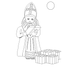 Sinterklaas with presents vector drawing