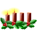 Second Sunday in advent vector image