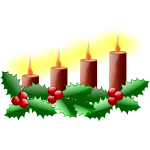 Fourth Sunday in advent vector image
