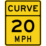 Speed limit 20 roadsign vector image