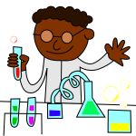 Chemist in a laboratory working