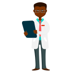 African Doctor Holding Clipboard 04