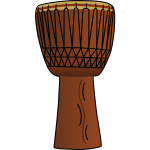 Vector image of djembe