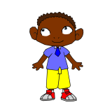 Cartoon African boy