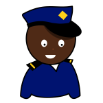 African policeman