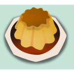 Caramel cake vector drawing