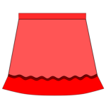 Red skirt vector drawing