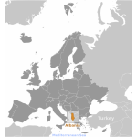 Albania location label