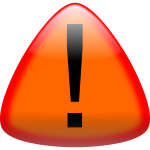 Warning button vector drawing