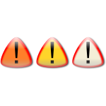 Vector clip art of caution buttons